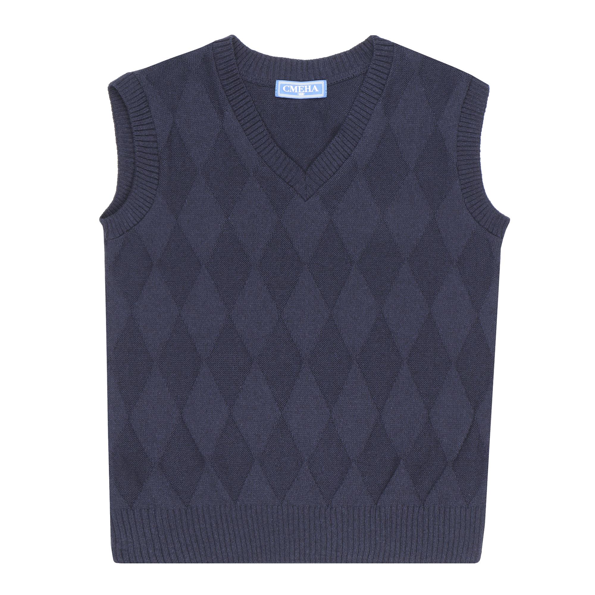 Фото - Жилет школьный трикотажный Смена темно-синий 158/80 платье смена размер 158 80 черный