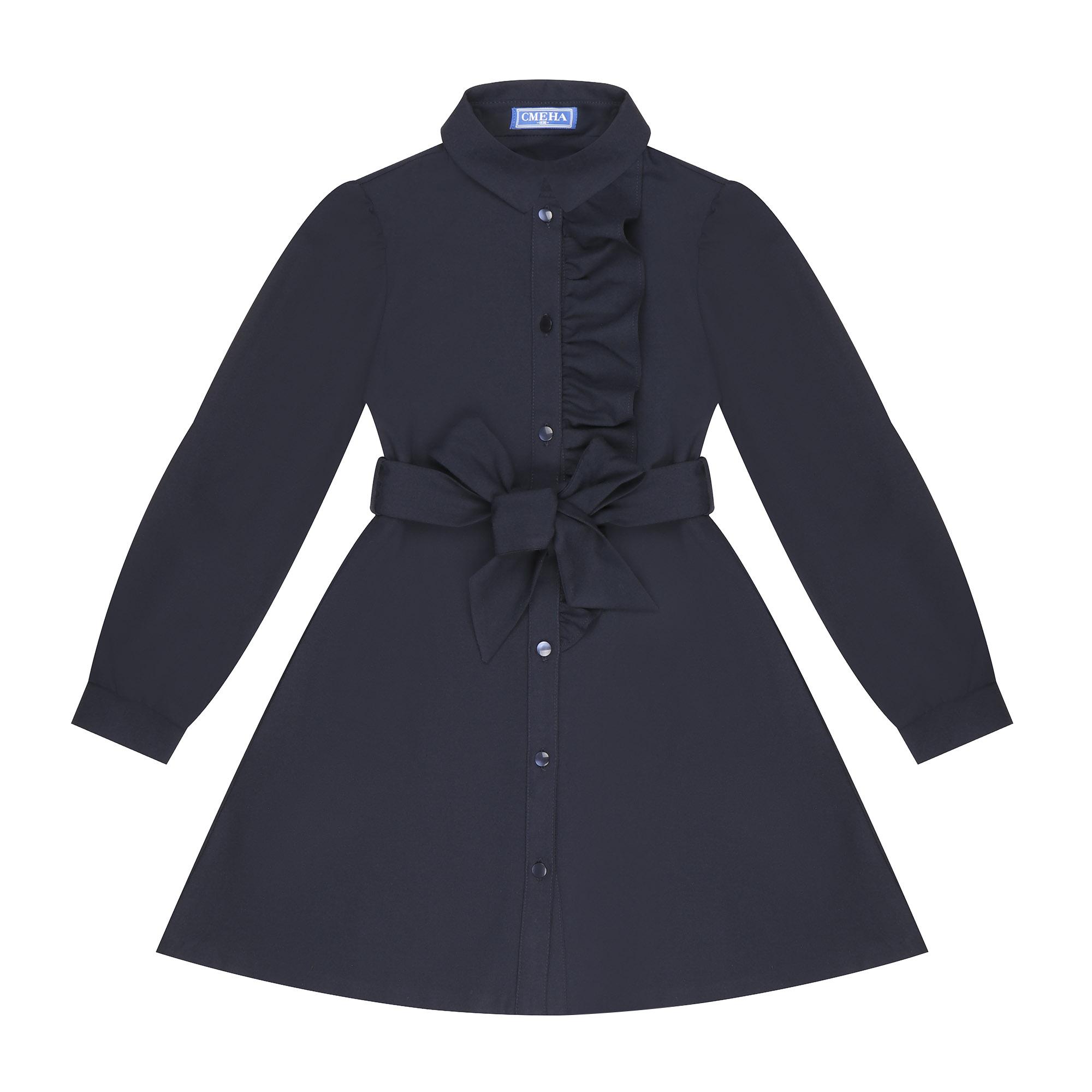 Фото - Платье школьное Смена 10004 синее 158/80 платье смена размер 158 80 черный
