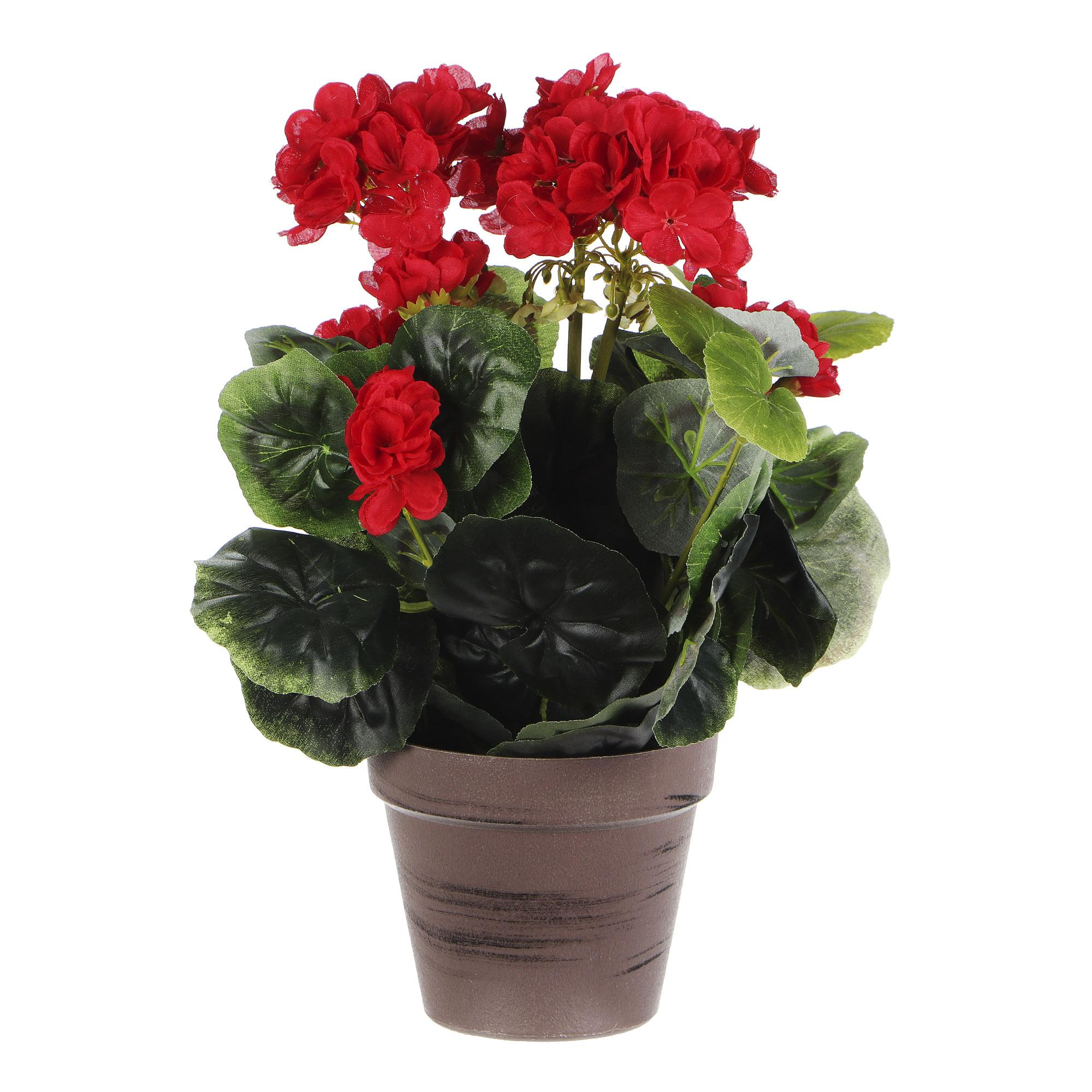 Растение искусственное Dpi герань в горшке 38см фото