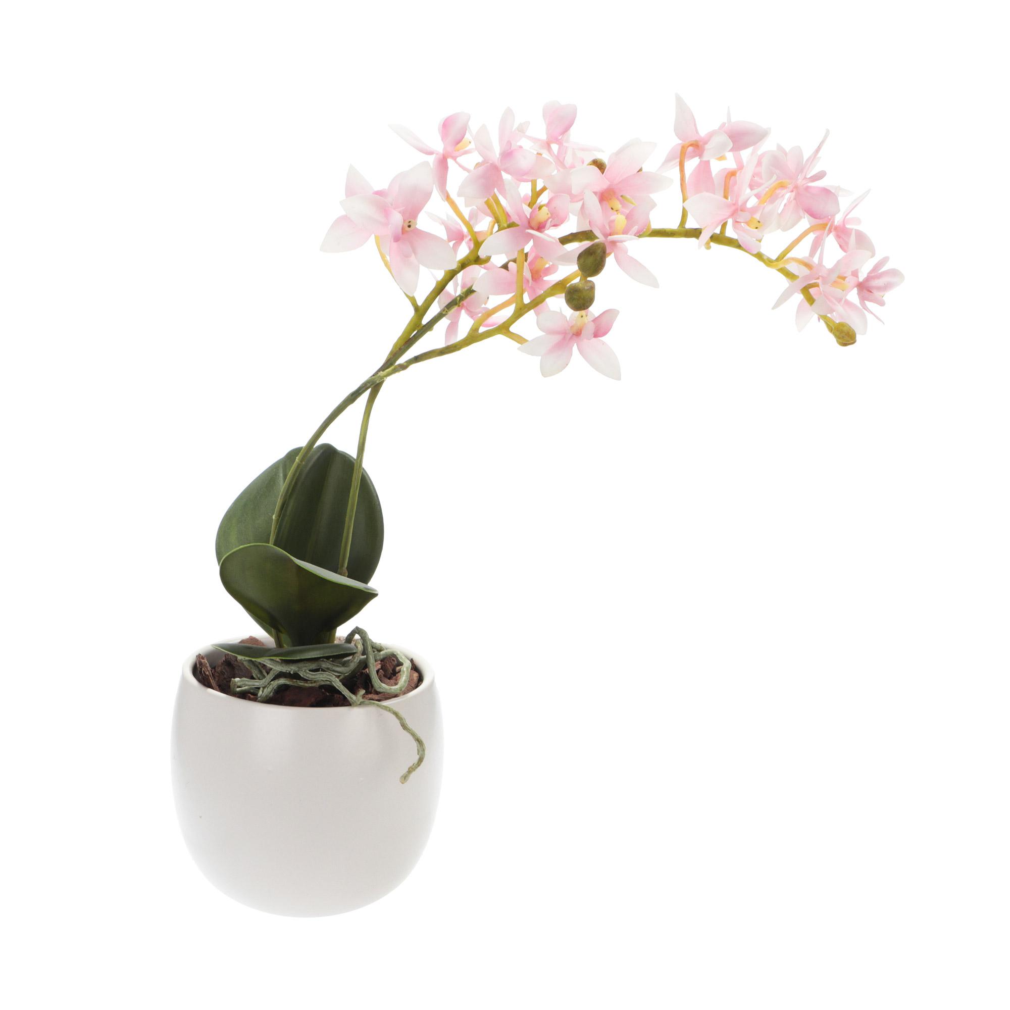 Растение искусственное Dpi орхидея в горшке 36см растение искусственное в горшке лаванда 30см