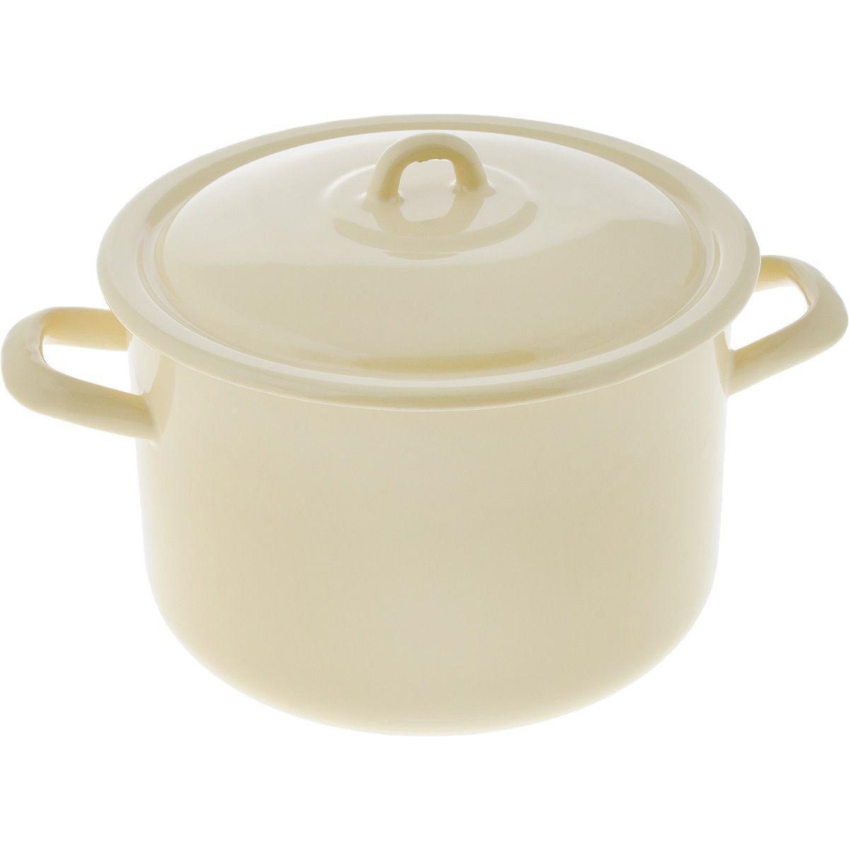 Кастрюля эмалированная Лысьвенские эмали 4,3 л набор эмалированной посуды лзэп китайская роза 124 4ап2 кастрюля 1 5 2 3 л 3 предмета