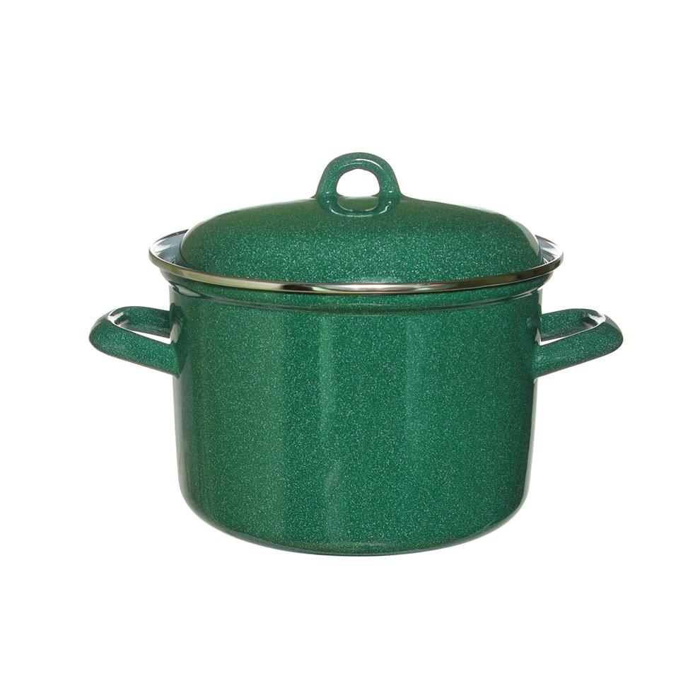 Кастрюля эмалированная Лысьвенские эмали Зелёный гранит 3 л набор эмалированной посуды лзэп китайская роза 124 4ап2 кастрюля 1 5 2 3 л 3 предмета
