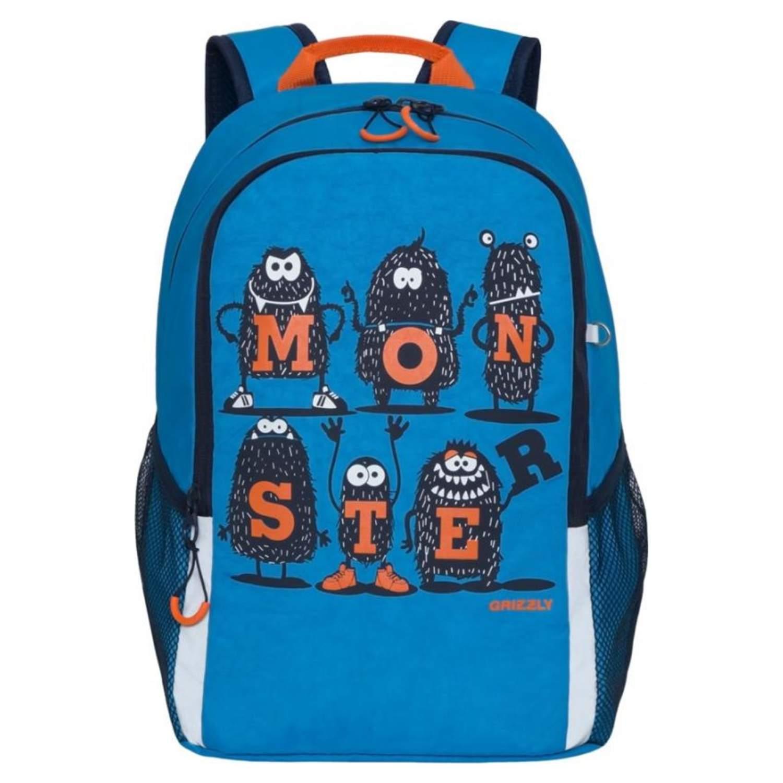 Рюкзак школьный Grizzly лазурный фото