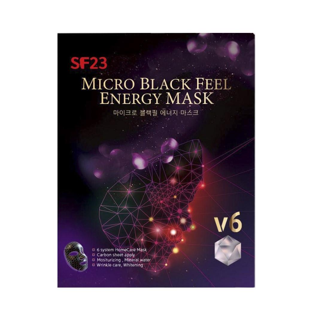 Маска Skin Factory для лица Micro Black Feel Energy mask 6 шт