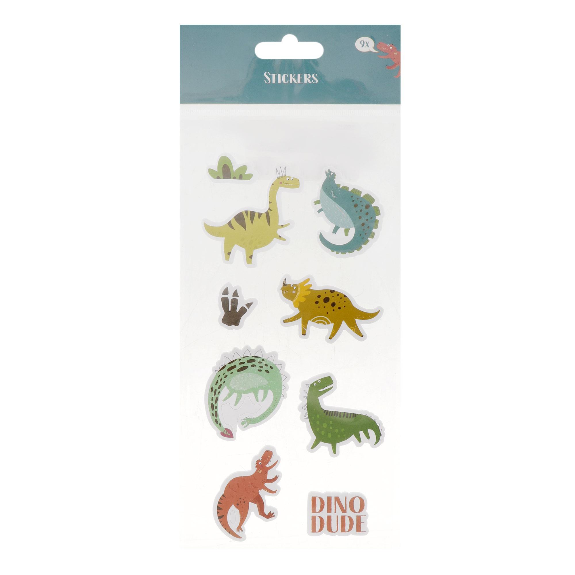 Наклейки Koopman Динозавры 9 шт фото
