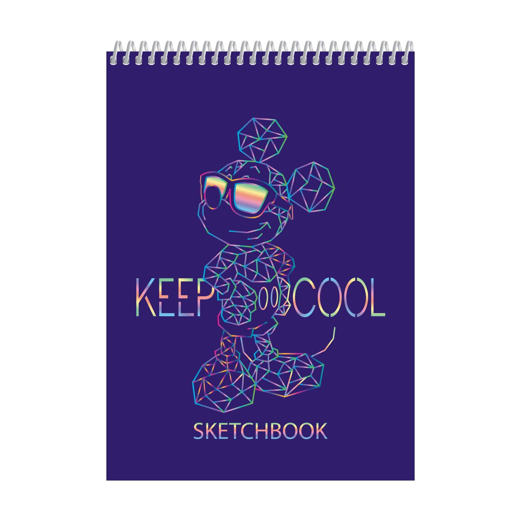 Блокнот Hatber SketchBook Микки Мау 60 л А5 без линовки