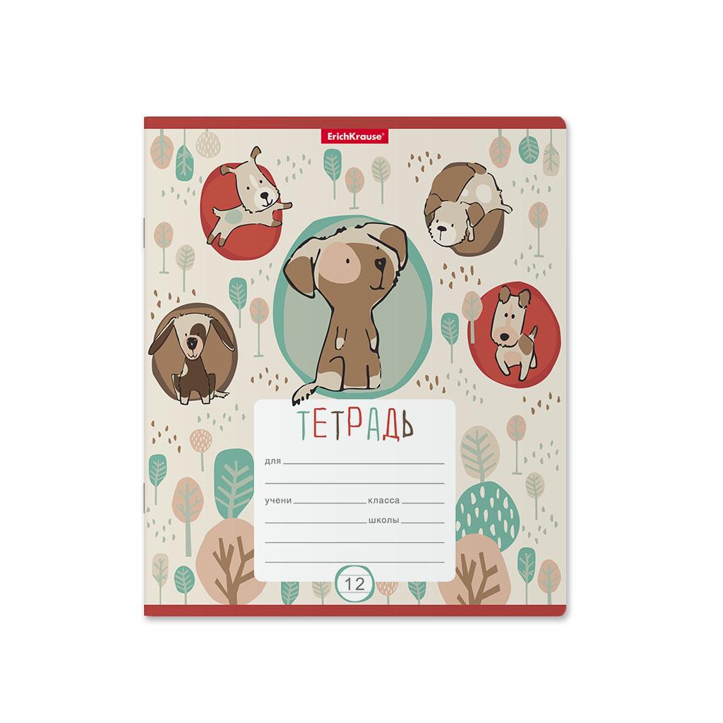 Тетрадь ErichKrause Little Dogs, 12 листов, линейка фото