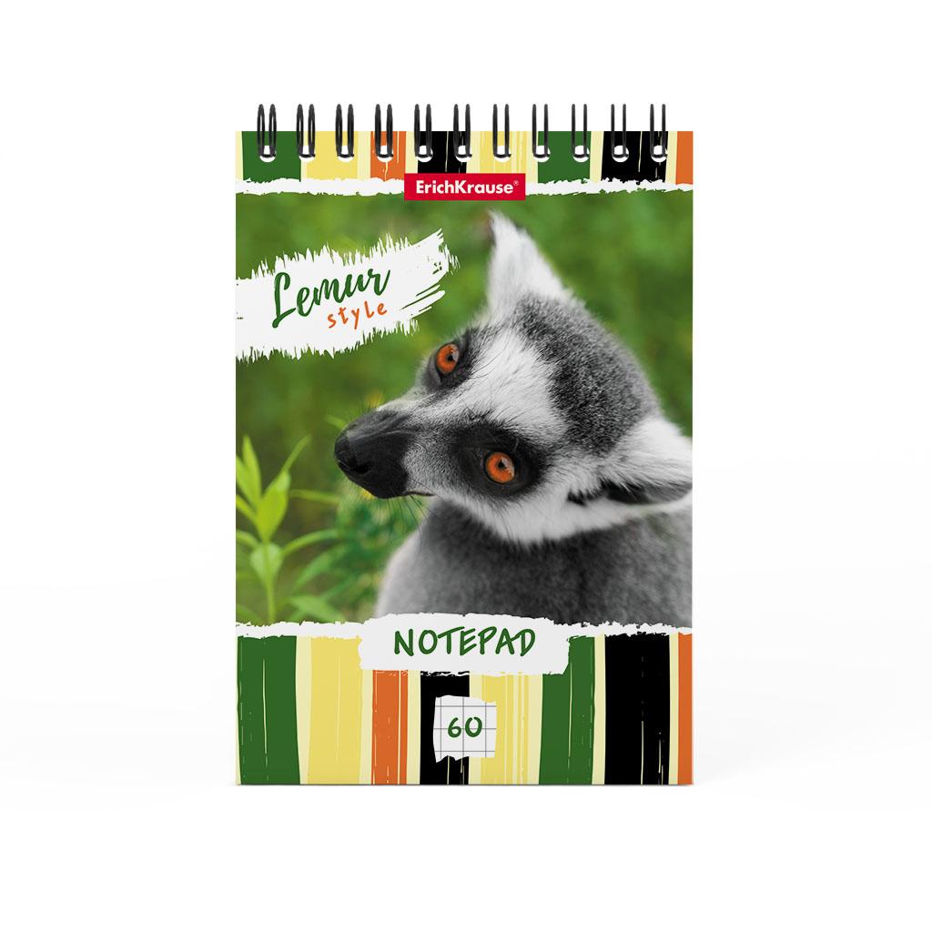 Блокнот ErichKrause Lemur Style, А6, 60 листов, клетка блокнот erichkrause rough native а6 60 листов клетка