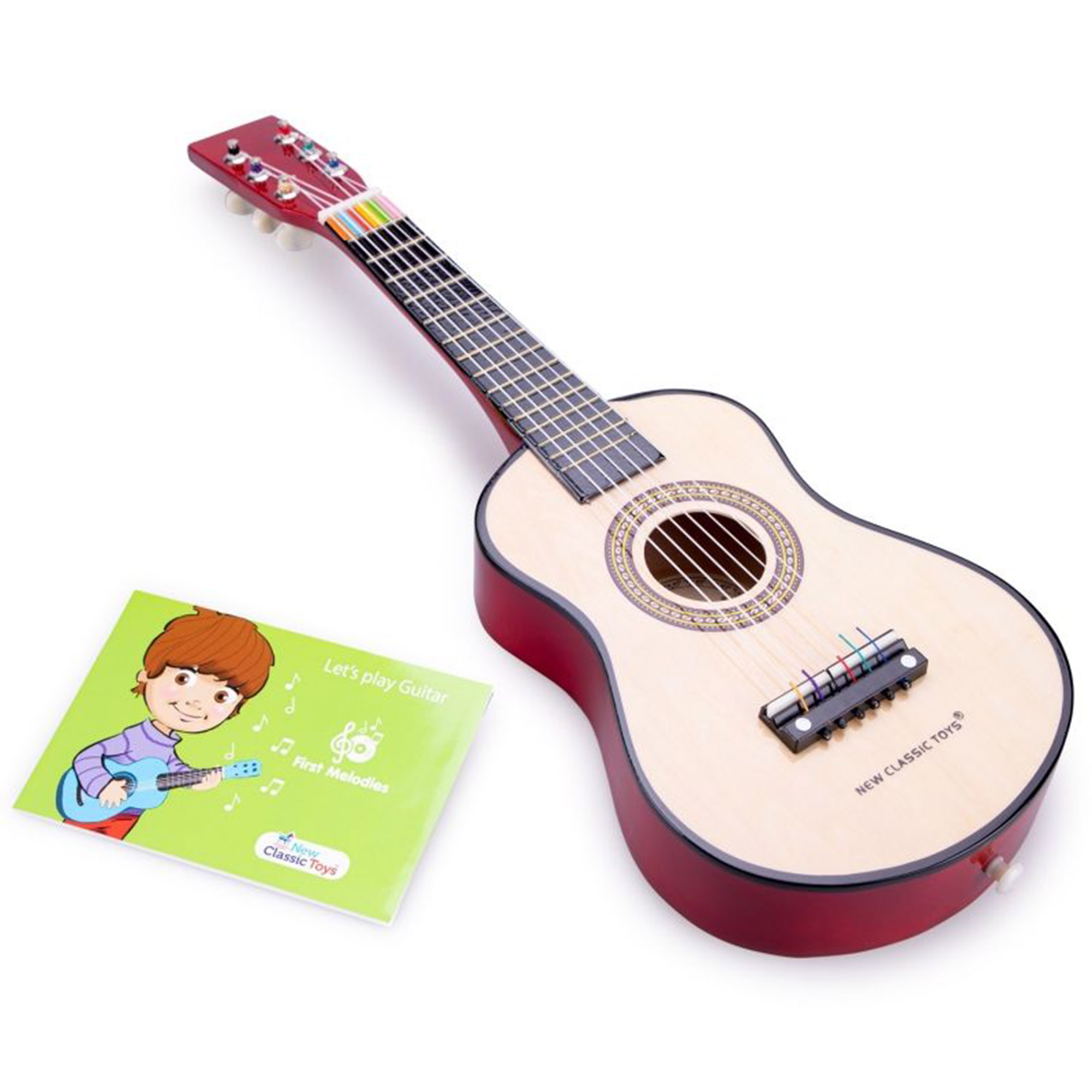 Гитара детская New Classic Toys коричневая 60 см фото