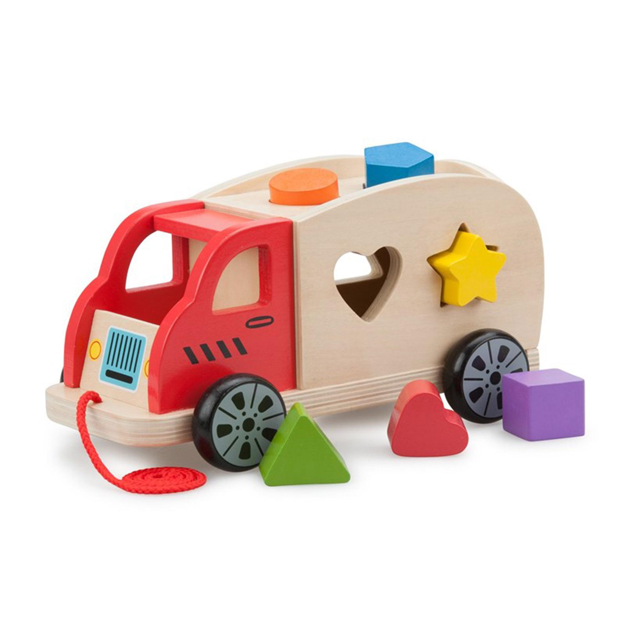Фото - Сортер New Classic Toys Грузовик plantoys сортер каталка plan toys автобус
