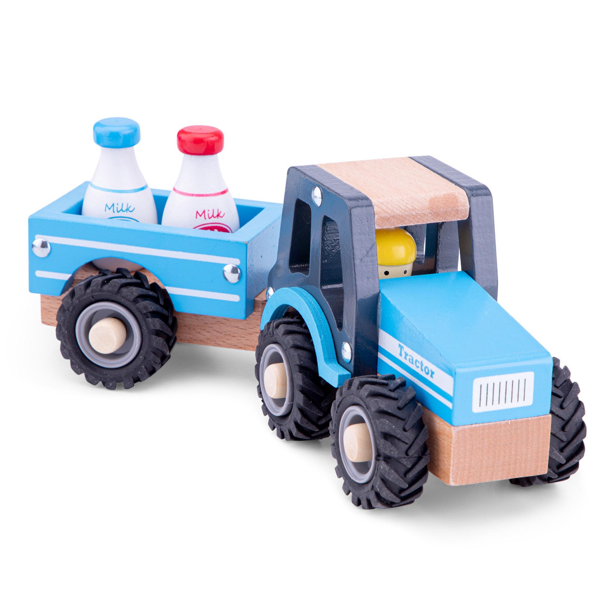 Трактор с прицепом New Classic Toys молоко фото