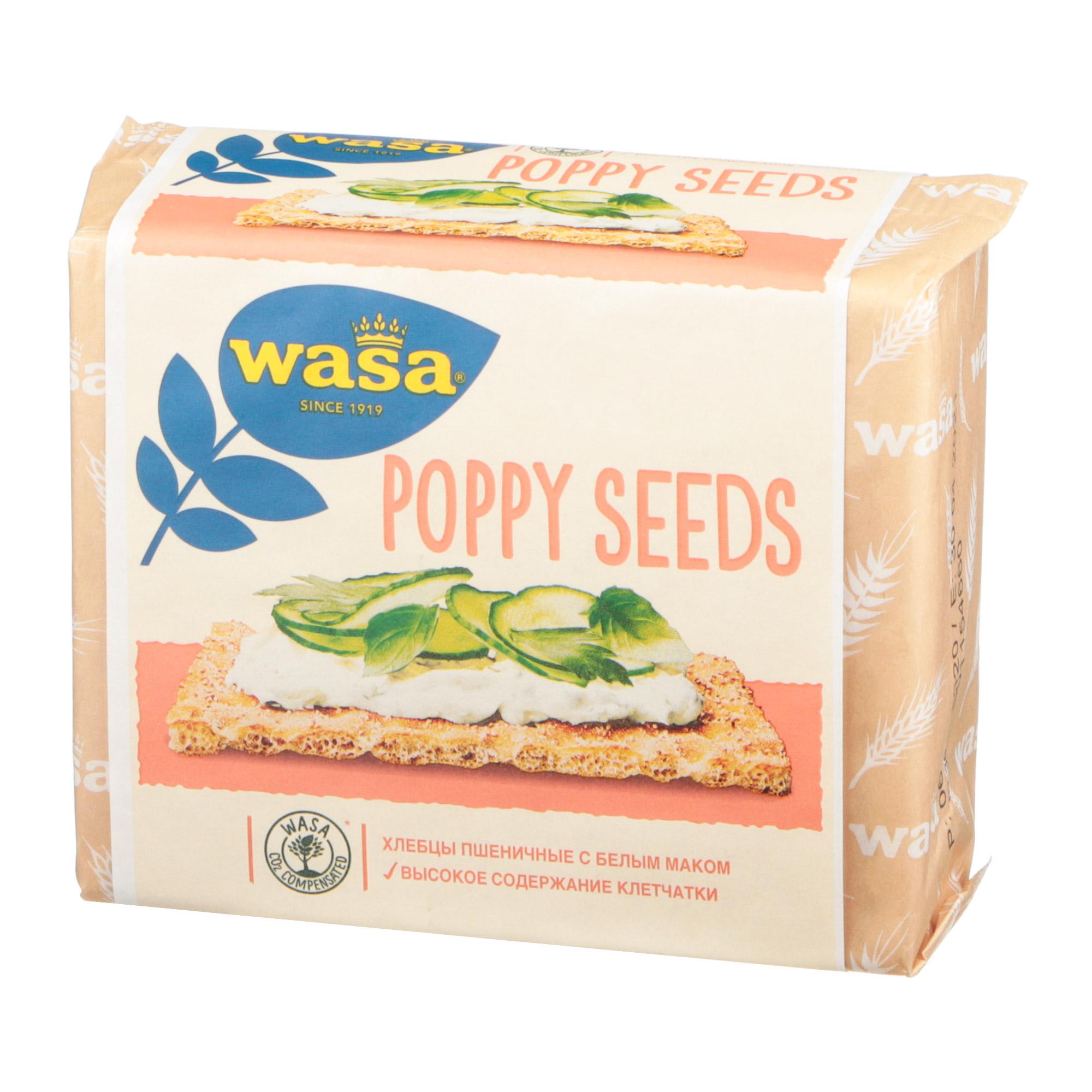 Хлебцы пшеничные Wasa с семенами белого мака 240 г