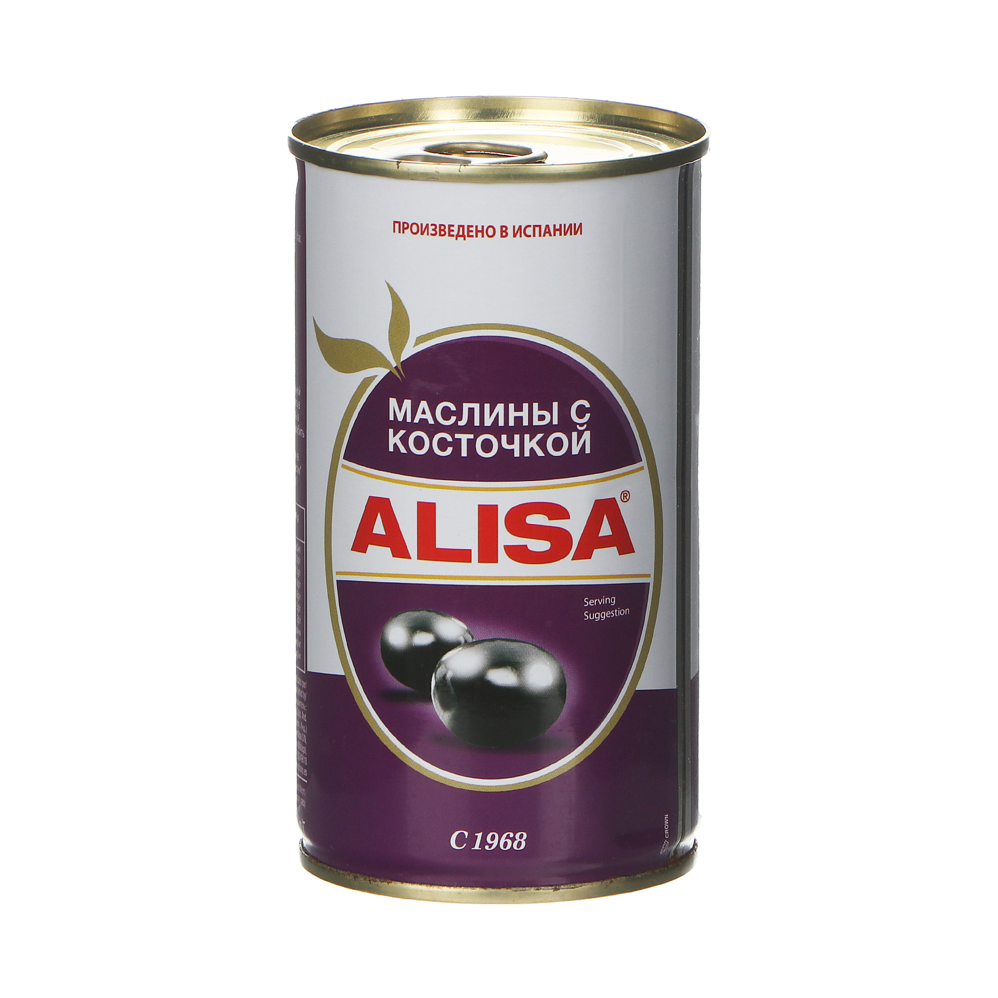 Маслины Alisa с косточкой 350 г itlv маслины super с косточкой