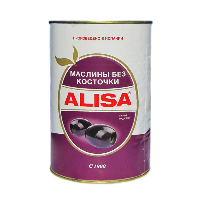 Маслины Alisa б/к 350 г б 350