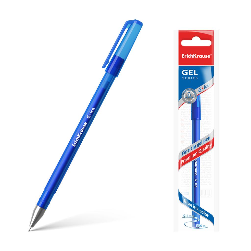 Ручка гелевая Erich Krause G-Ice синий erich maletzke adam olearius