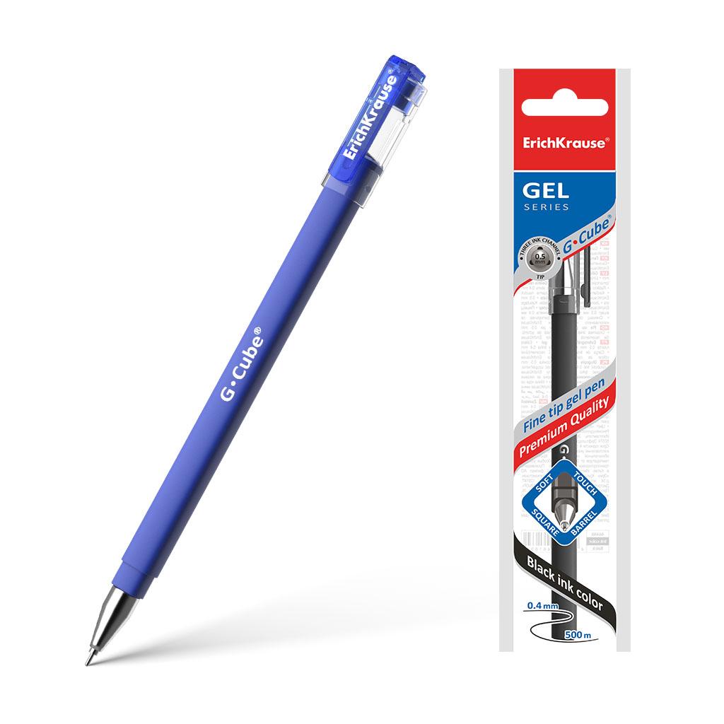 Ручка гелевая Erich Krause G-Cube синий