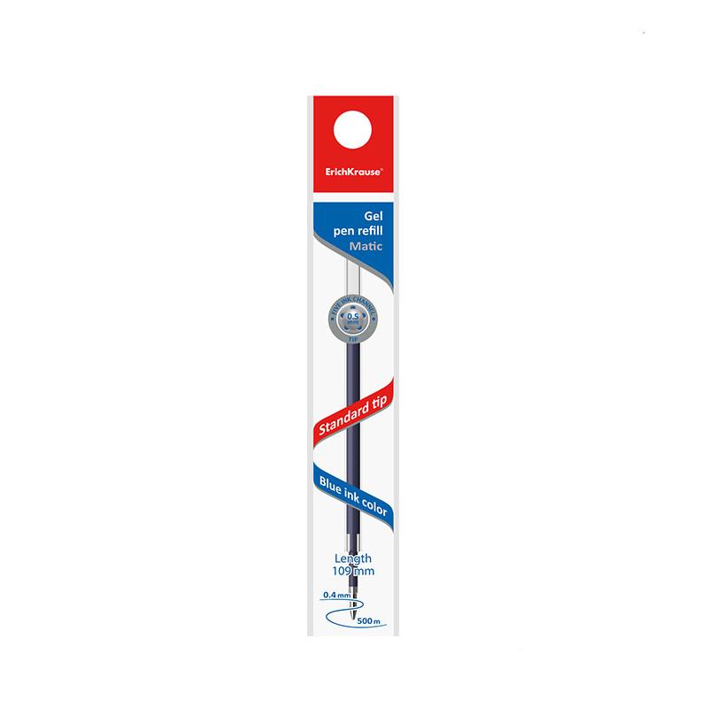 Стержень гелевый синий Erich Krause 109 мм для ручек R-301 Gel Matic