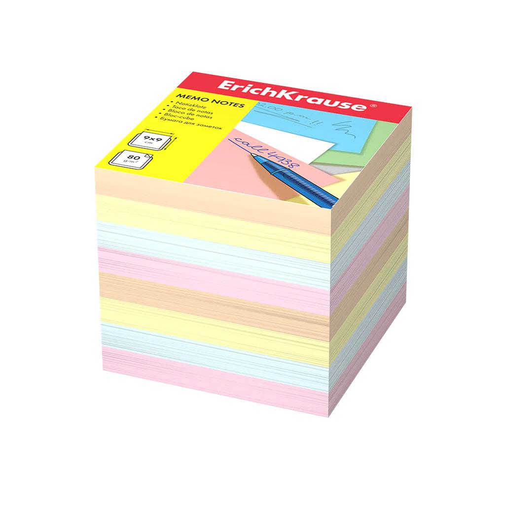 Бумага для заметок Erich Krause 90x90x90 мм 4 цвета
