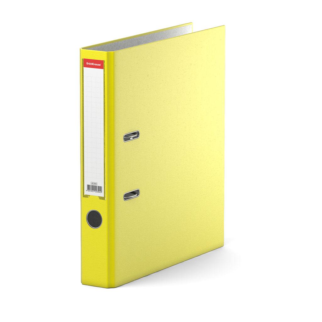 Папка–регистратор с арочным механизмом Erich Krause, Neon, А4, 50 мм, желтый