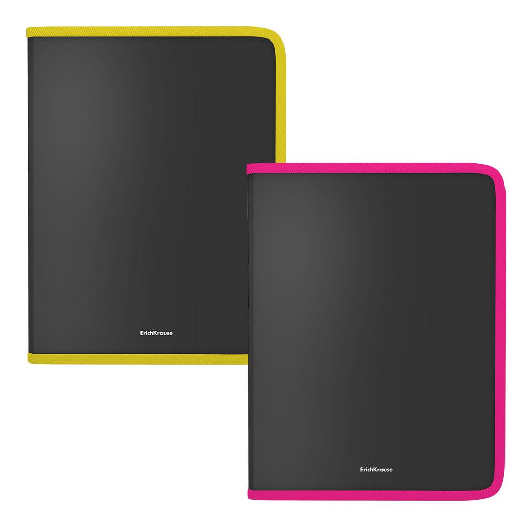 Папка для тетрадей на молнии пластиковая Erich Krause Matt Accent, A4, ассорти канцелярия erich krause папка на резинках пластиковая pink dynamique a4