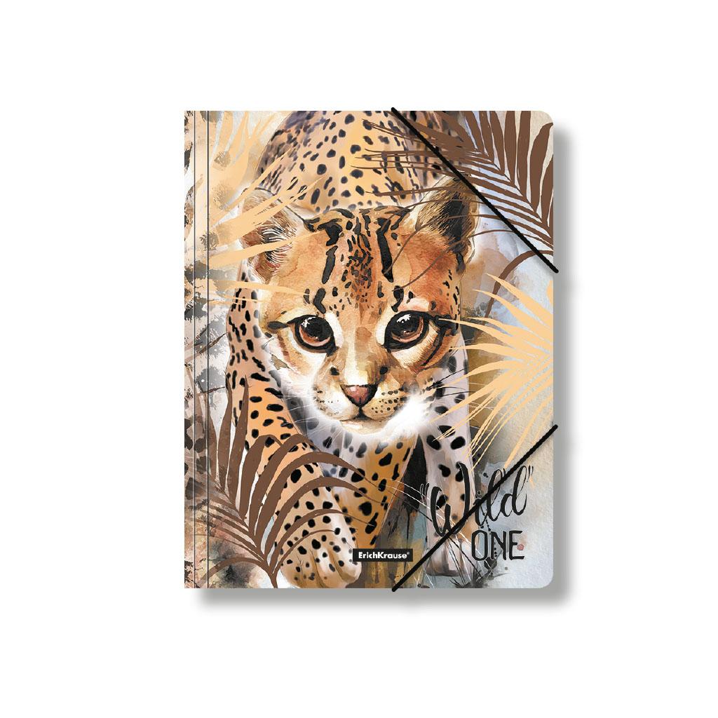 Папка на резинках пластиковая Erich Krause Wild Cat, A4 канцелярия erich krause папка на резинках пластиковая pink dynamique a4