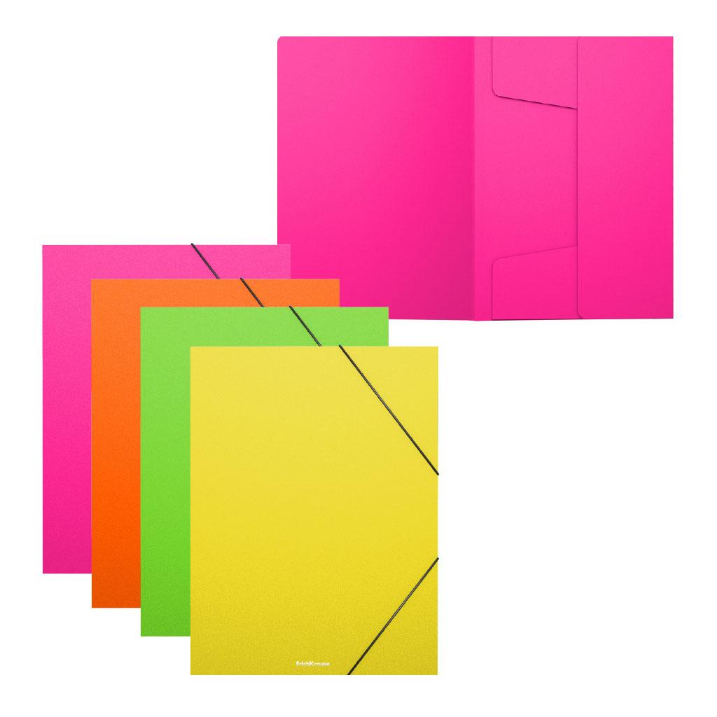 Папка для тетрадей на резинках пластиковая Erich Krause Matt Neon, A5+, ассорти канцелярия erich krause папка на резинках пластиковая pink dynamique a4