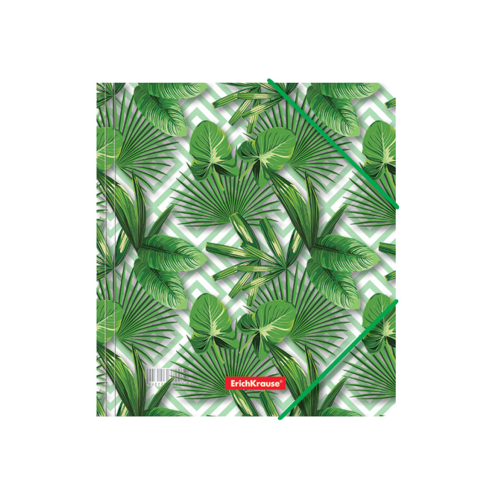 Папка для тетрадей на резинках пластиковая Erich Krause Tropical Leaves, A5+