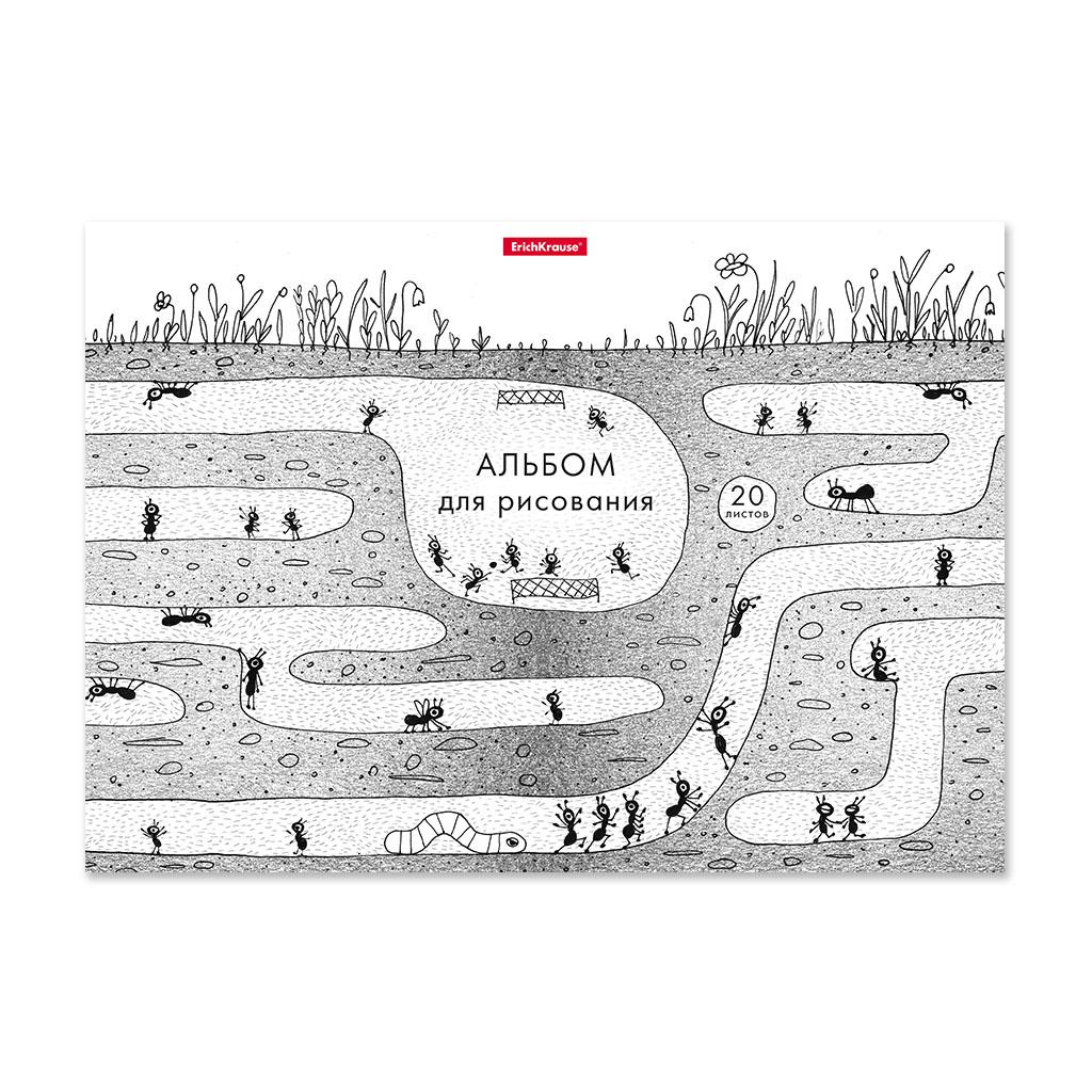 Фото - Альбом для рисования на клею Erich Krause Муравьишки, А4, 20 листов принадлежности для рисования апплика альбом для рисования на гребне филин а4 20 листов