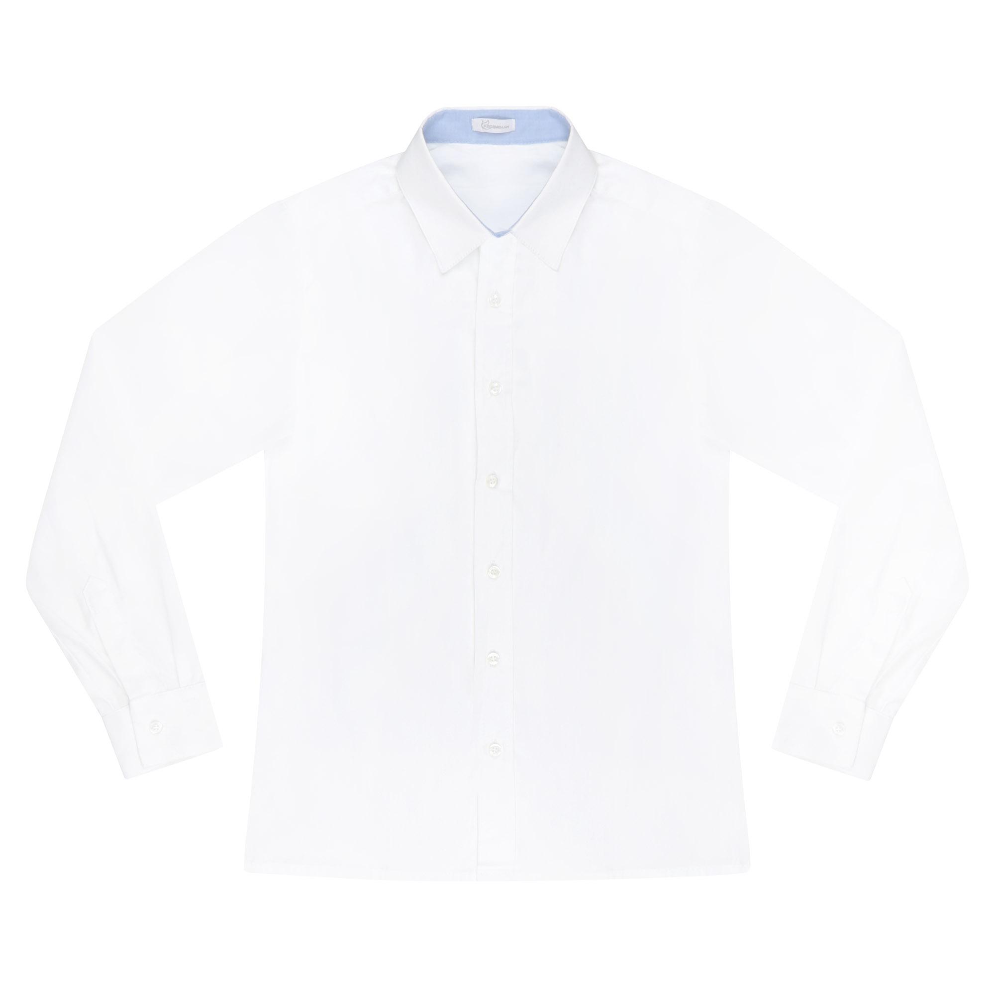 Купить Сорочка для мальчиков КАРАМЕЛЛИ О14311 белая 158, Белый, Для мальчиков, Всесезонный,