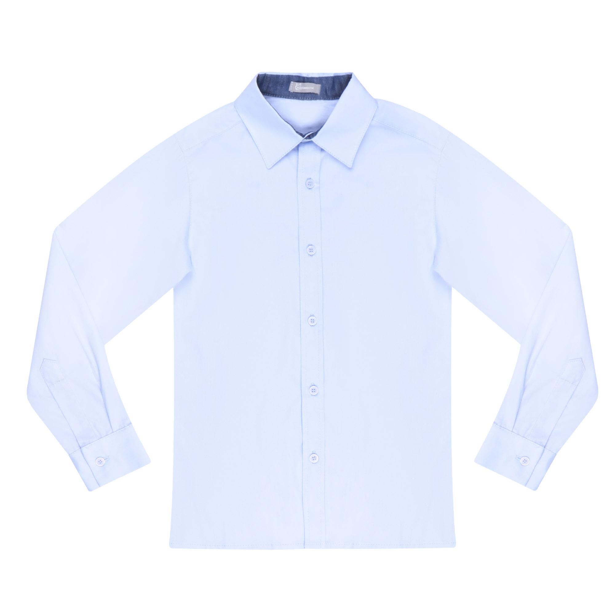 Купить Сорочка для мальчиков КАРАМЕЛЛИ О14311 голубая 158, Голубой, Для мальчиков, Всесезонный,
