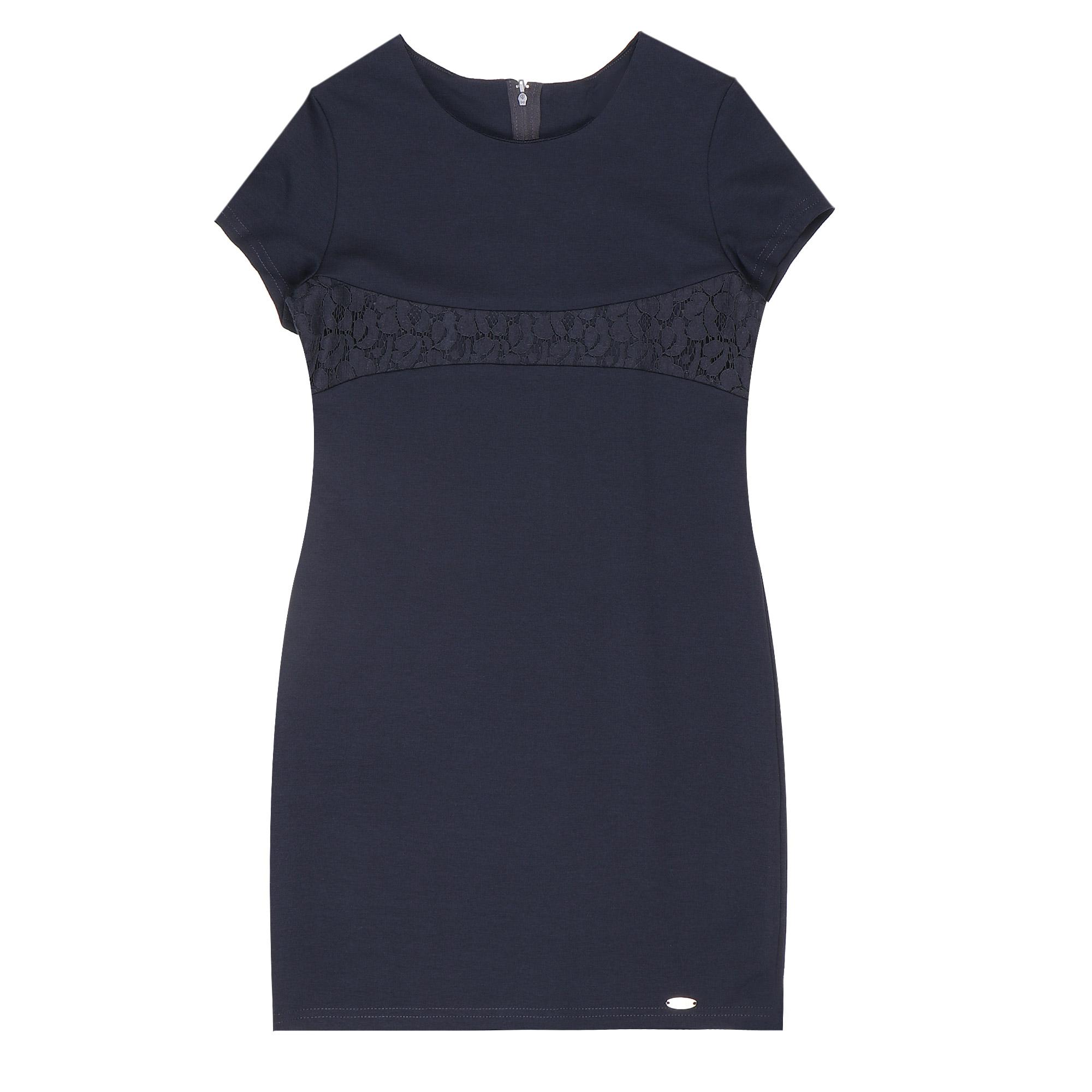 Купить Платье школьное КАРАМЕЛЛИ О73639 синее 128, Синий, Для девочек, Всесезонный,