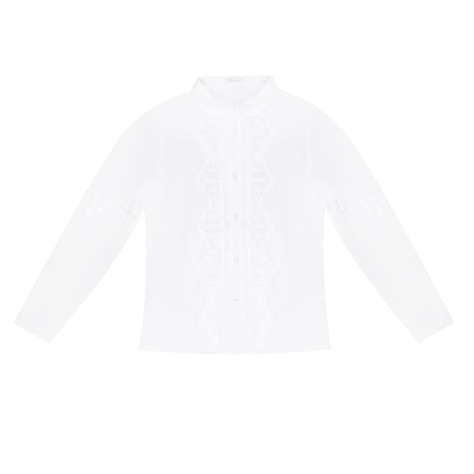 Блузка школьная КАРАМЕЛЛИ О73675 белая 158 фото