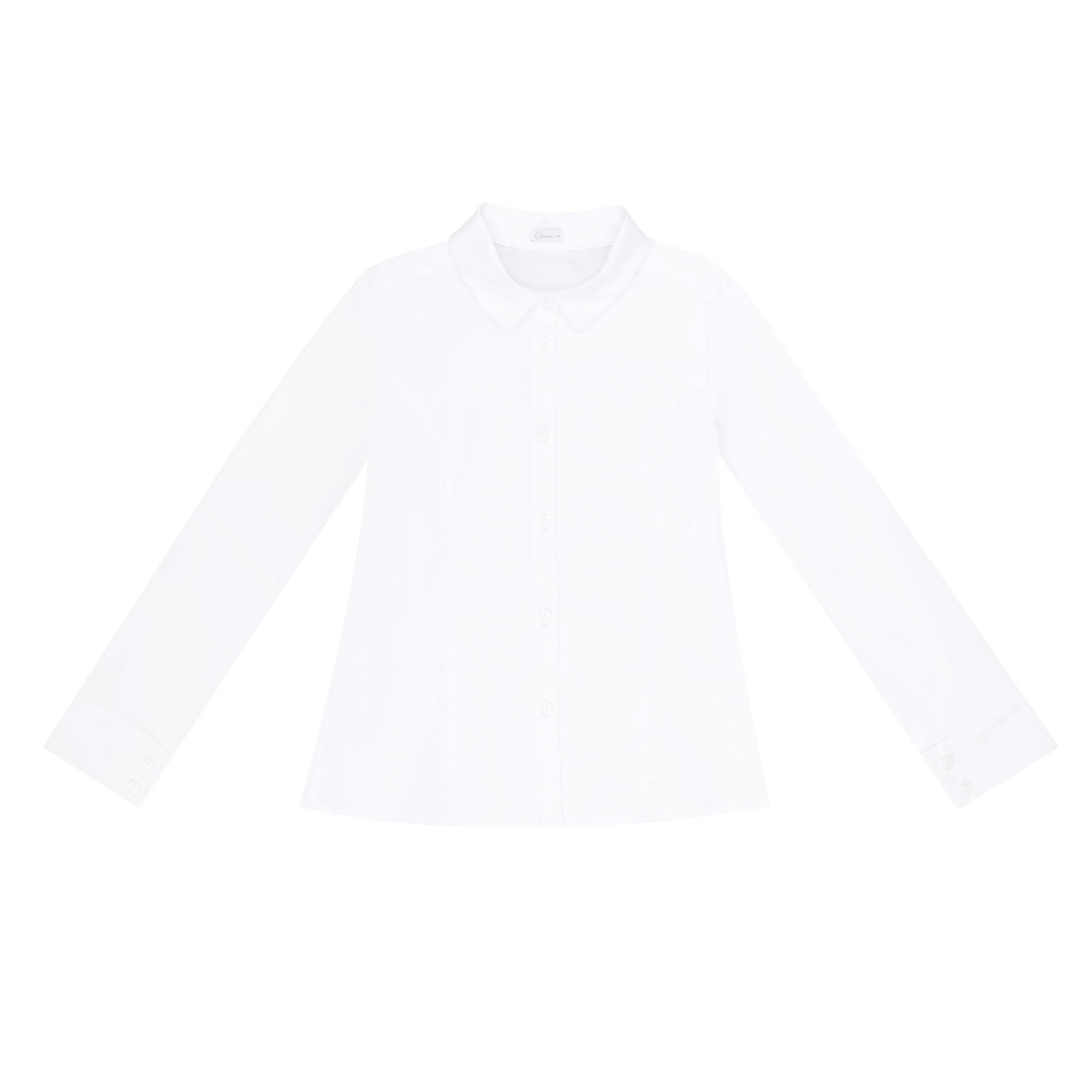 Купить Блузка школьная КАРАМЕЛЛИ О74165 белая 128, Белый, Для девочек, Всесезонный,