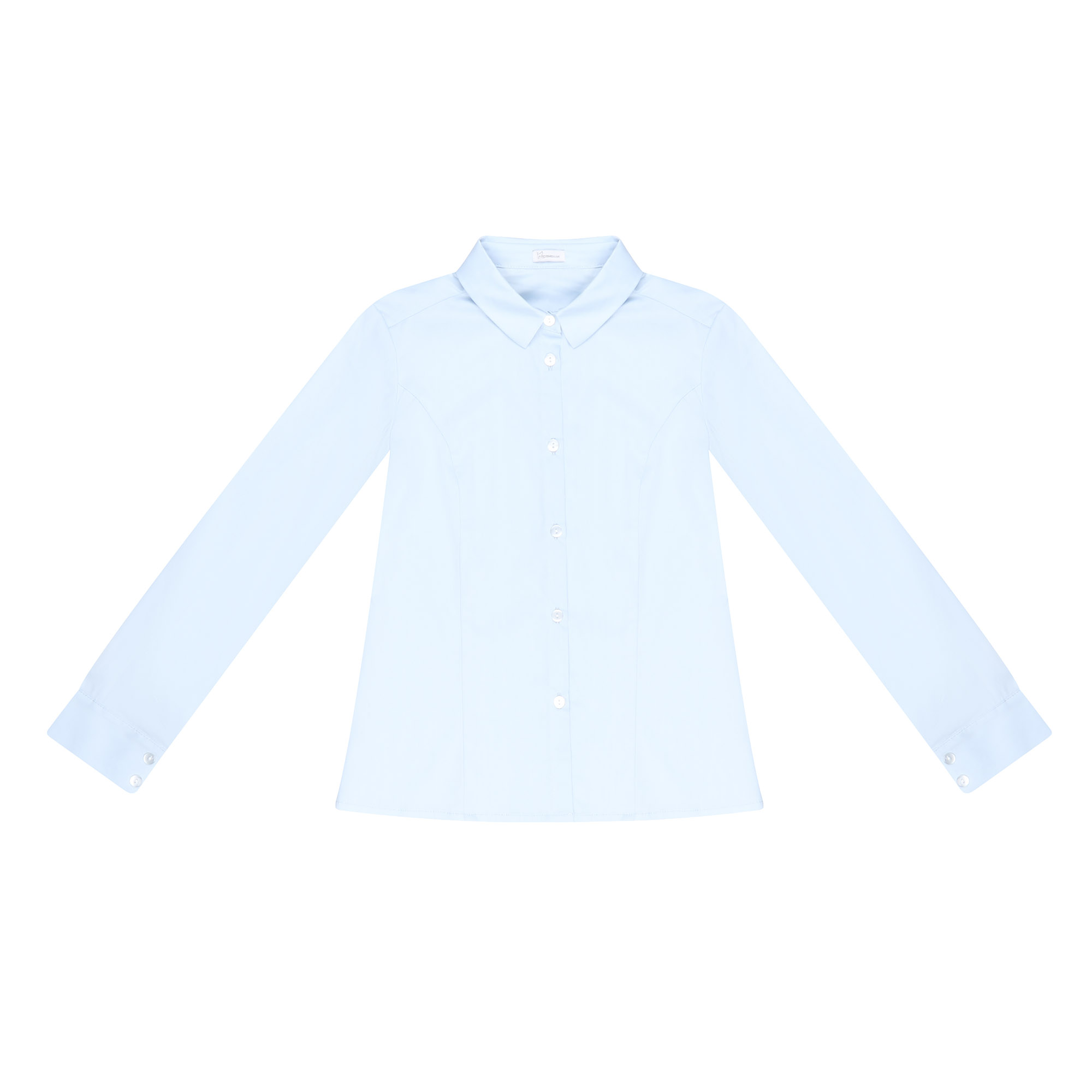 Купить Блузка школьная КАРАМЕЛЛИ О74165 голубая 128, Голубой, Для девочек, Всесезонный,