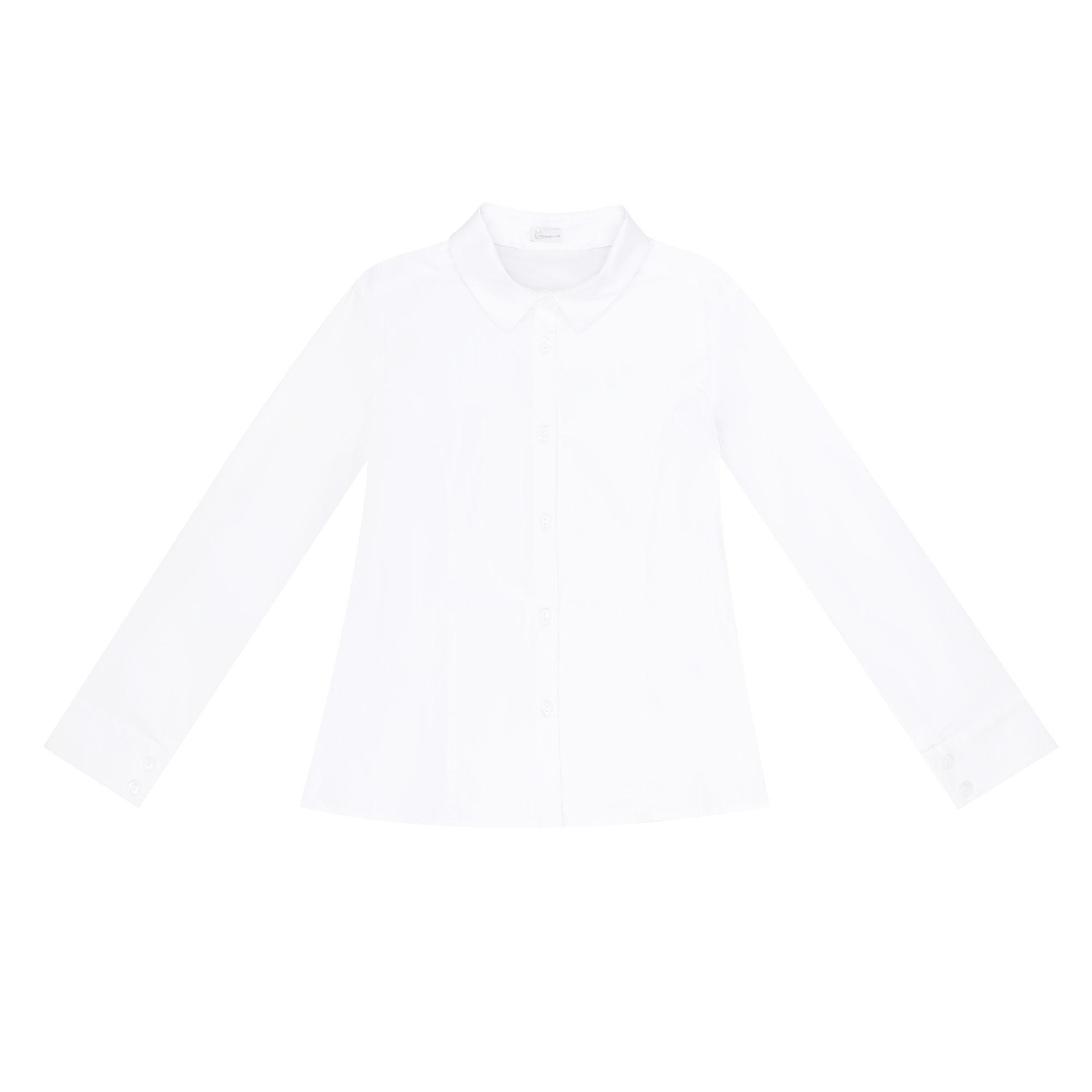 Купить Блузка школьная КАРАМЕЛЛИ О74165 белая 158, Белый, Для девочек, Всесезонный,