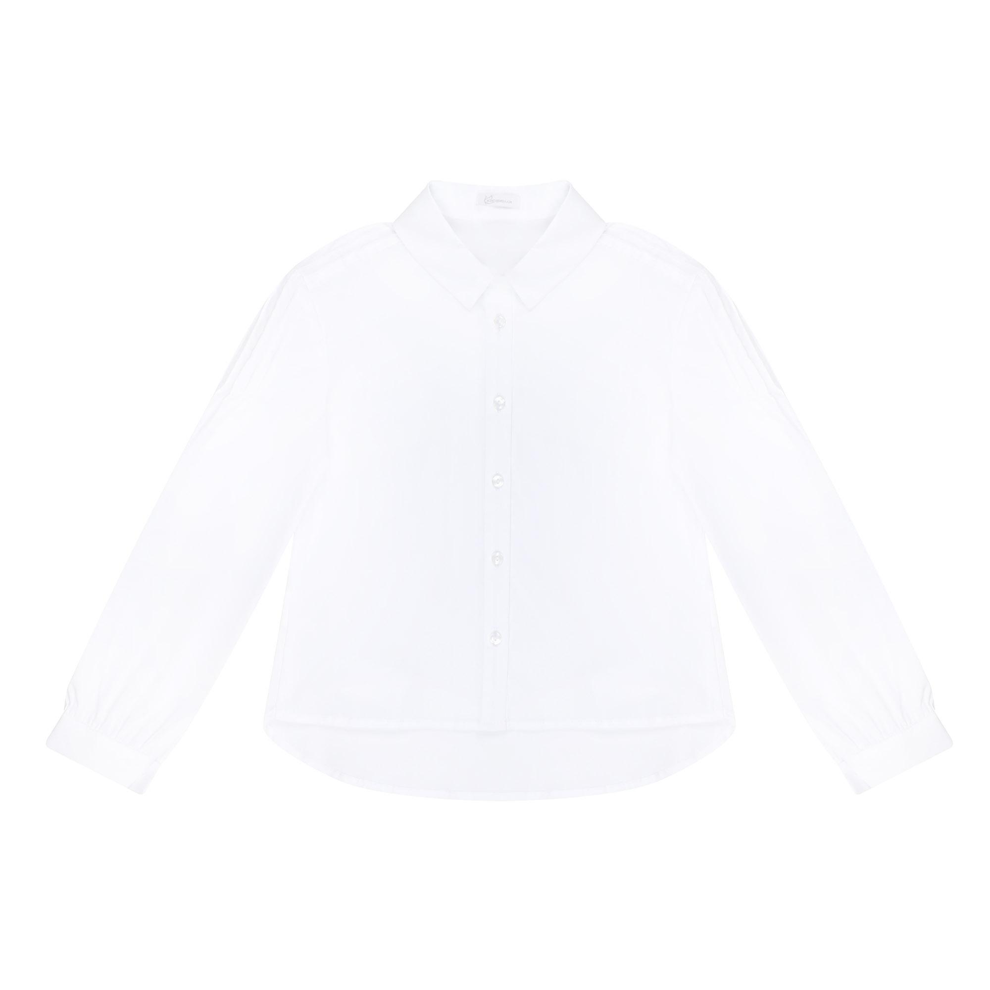 Блузка школьная КАРАМЕЛЛИ О74271 белая 152 фото