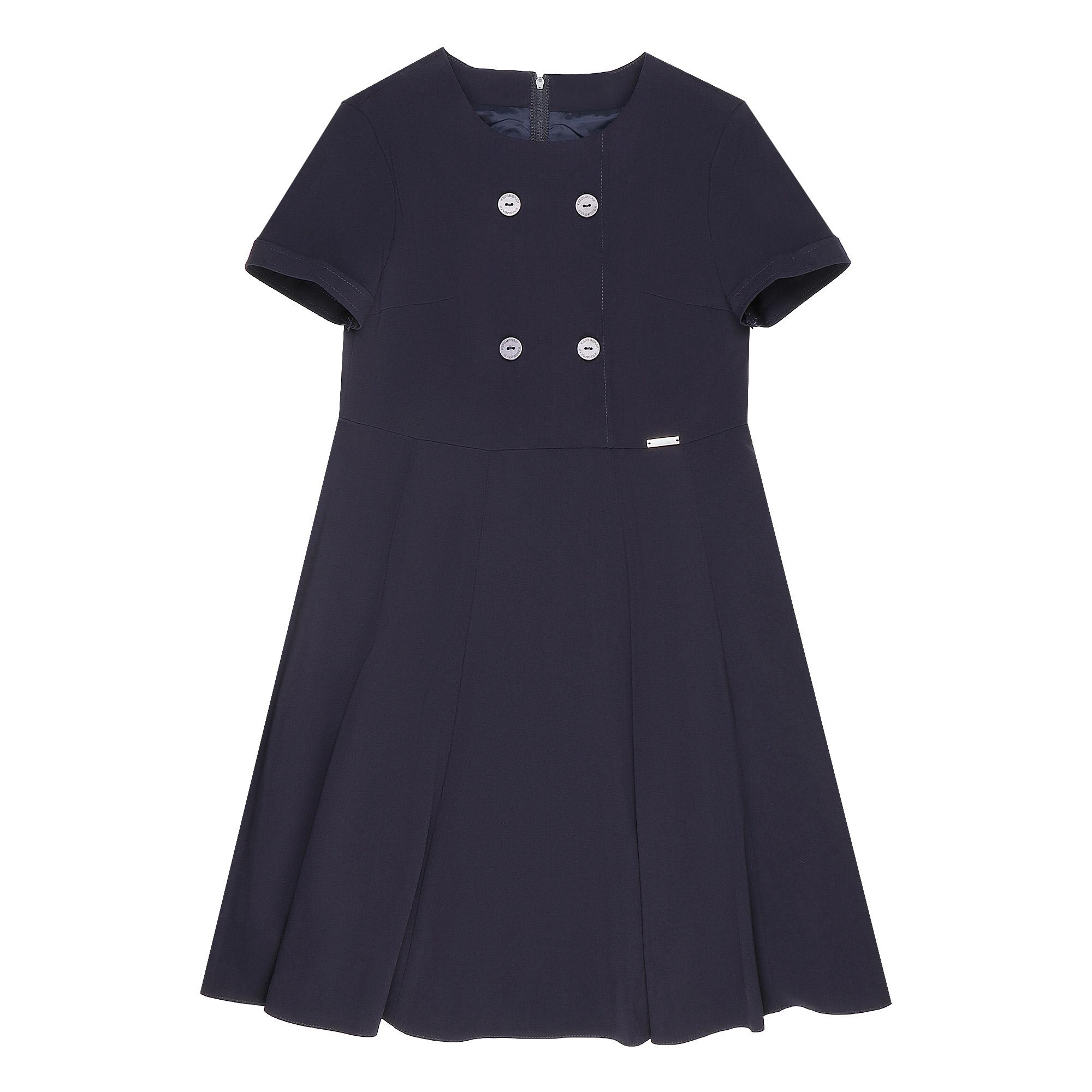 Купить Платье школьное КАРАМЕЛЛИ О74706 синее 128, Синий, Для девочек, Всесезонный,