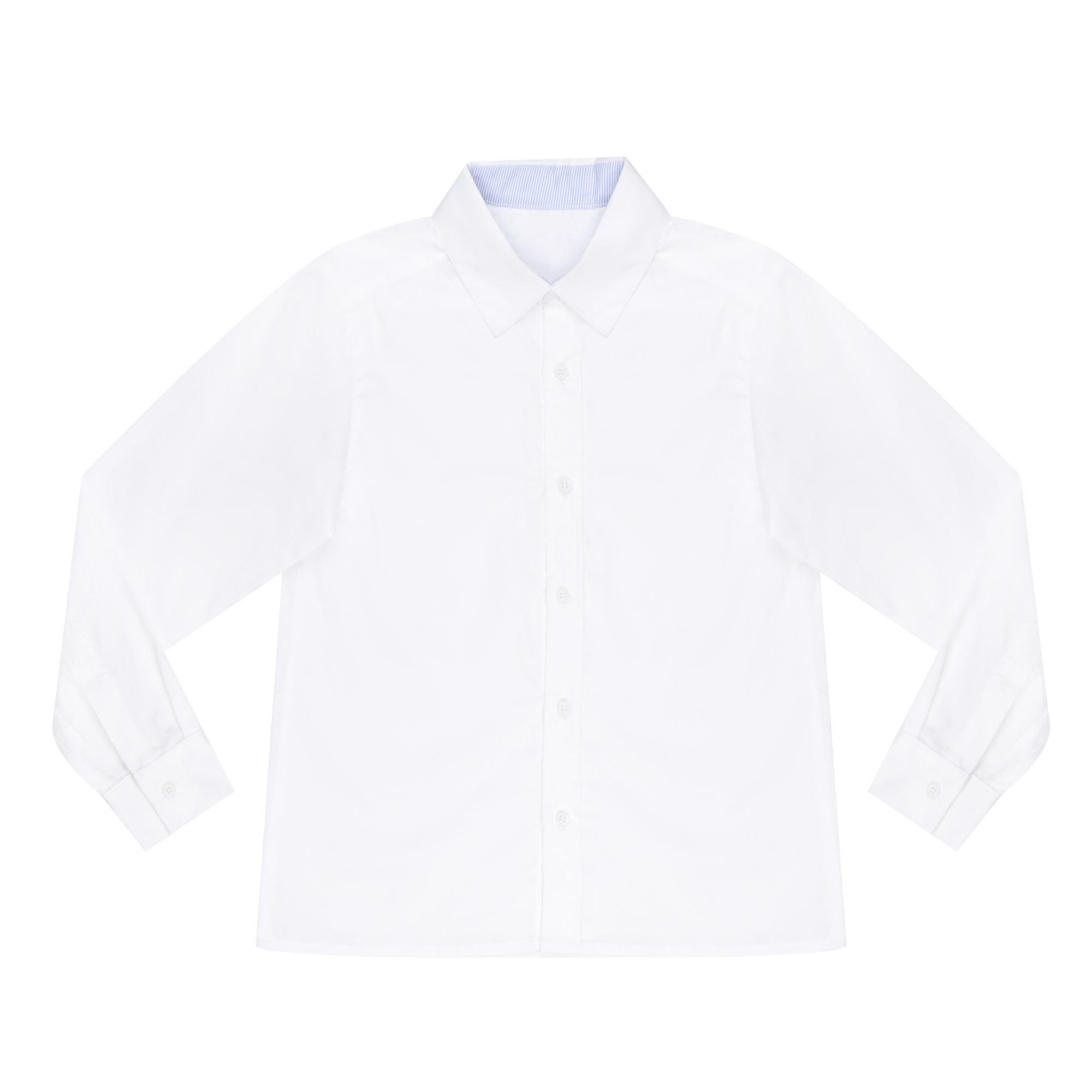Купить Сорочка для мальчиков КАРАМЕЛЛИ О14448 белая 128, Белый, Для мальчиков, Всесезонный,