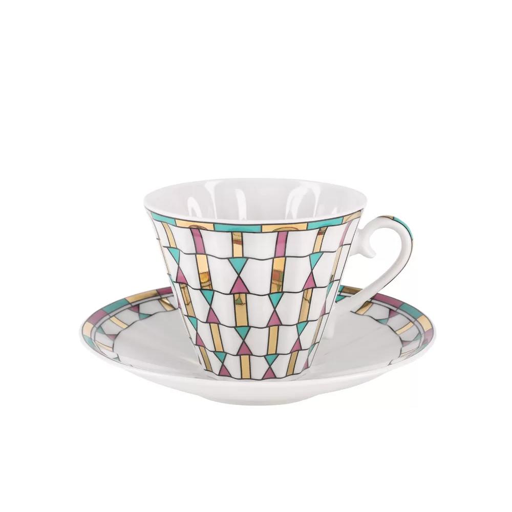 Чайная пара Ифз Геометрия цвета 235 мл недорого