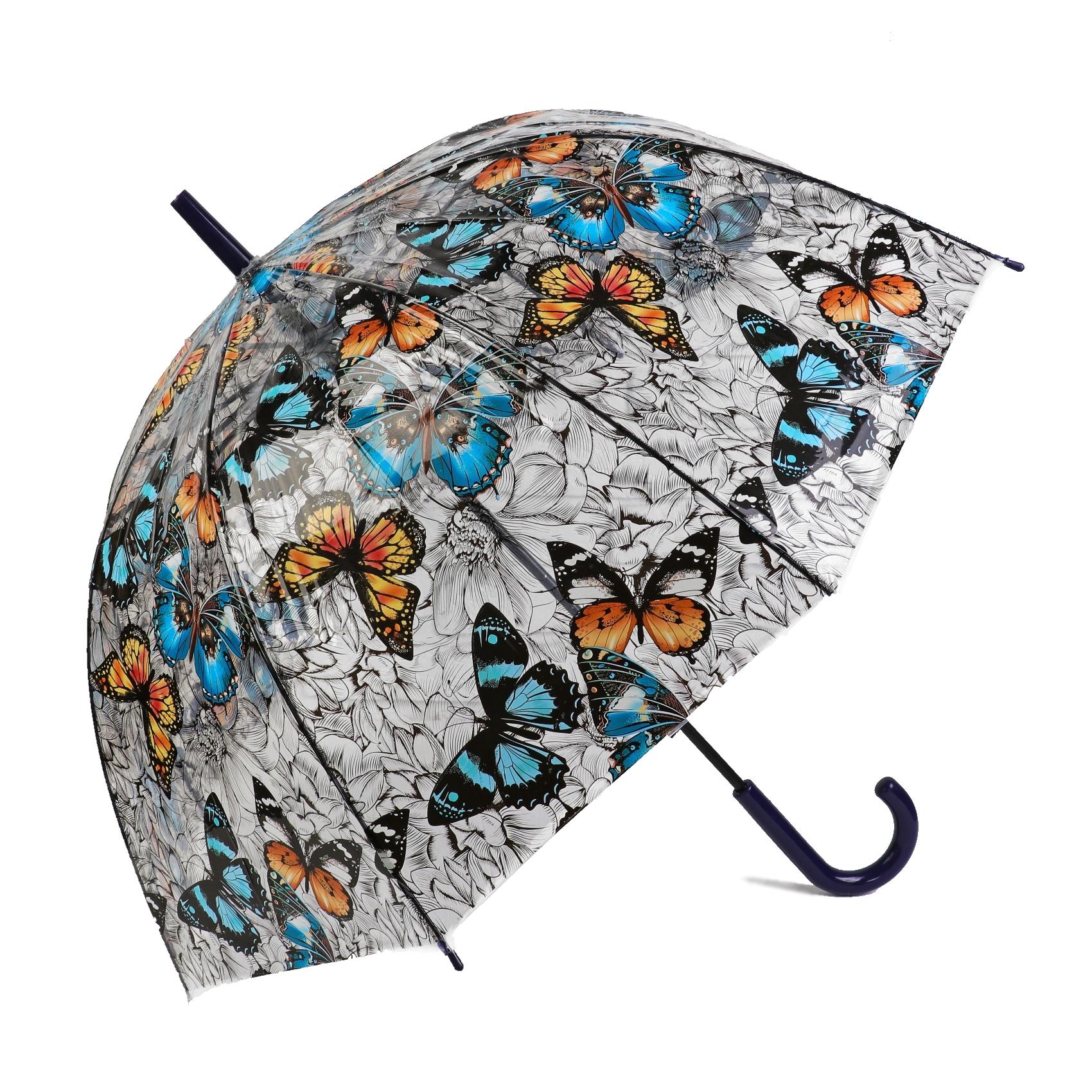 Зонт-трость Sima Land Бабочки полуавтомат