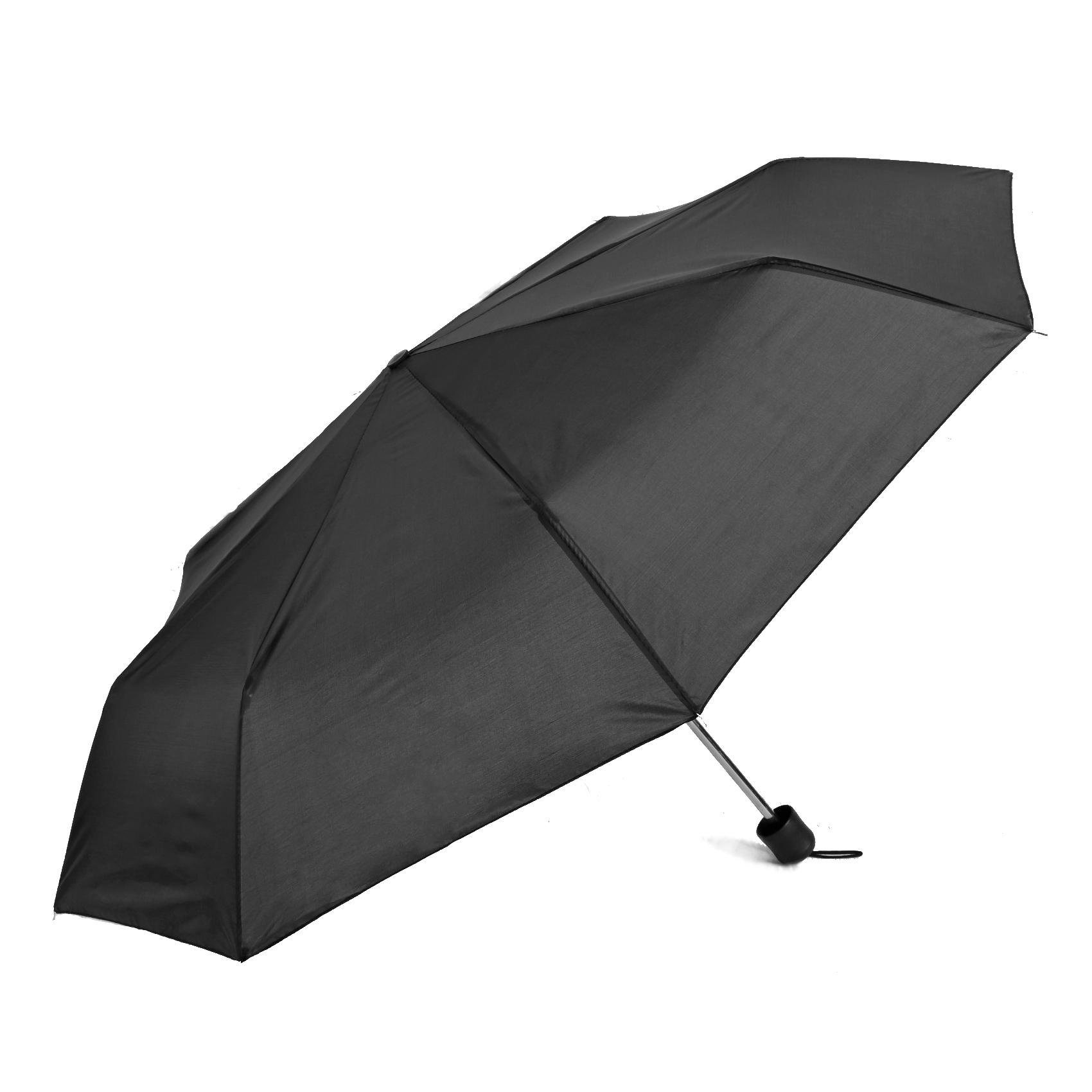 Зонт механический Sima Land Однотонный черный 3 сложения корона принца sima land с изумрудами