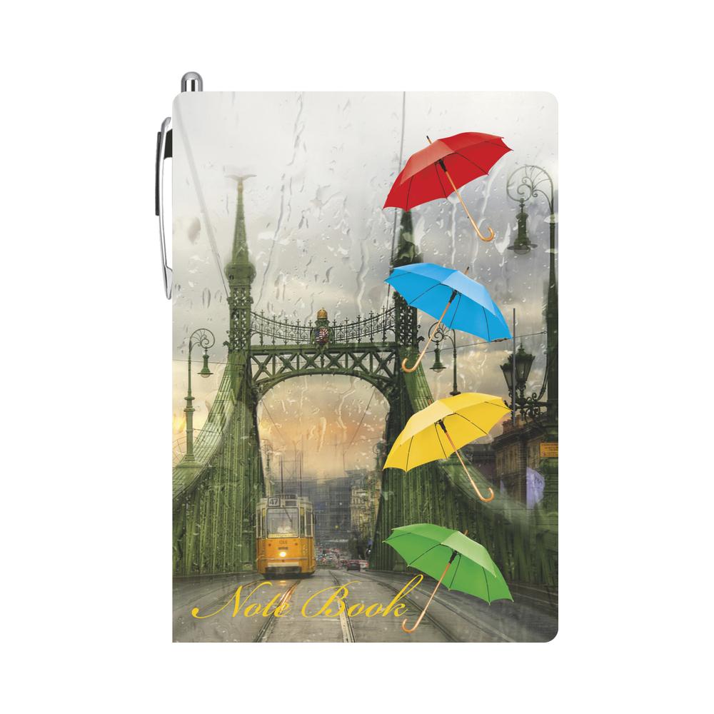 Блокнот с ручкой Lamark Umbrellas 105х150 мм
