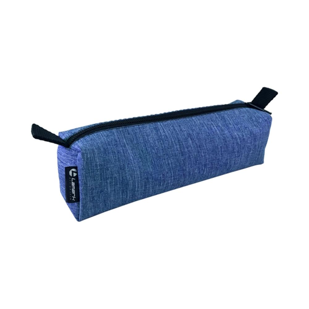 Пенал-косметичка Lamark на молнии 60х50х210 мм Лен голубой
