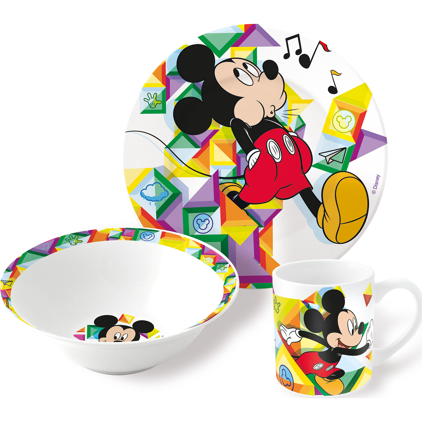 Набор детской посуды Stor Микки Маус 3 предмета недорого