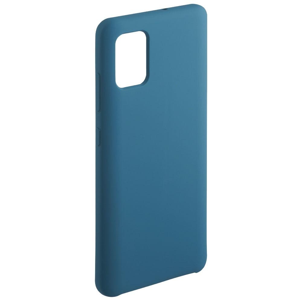 Чехол Deppa Liquid Silicone Case для смартфона Samsung Galaxy A71, синий