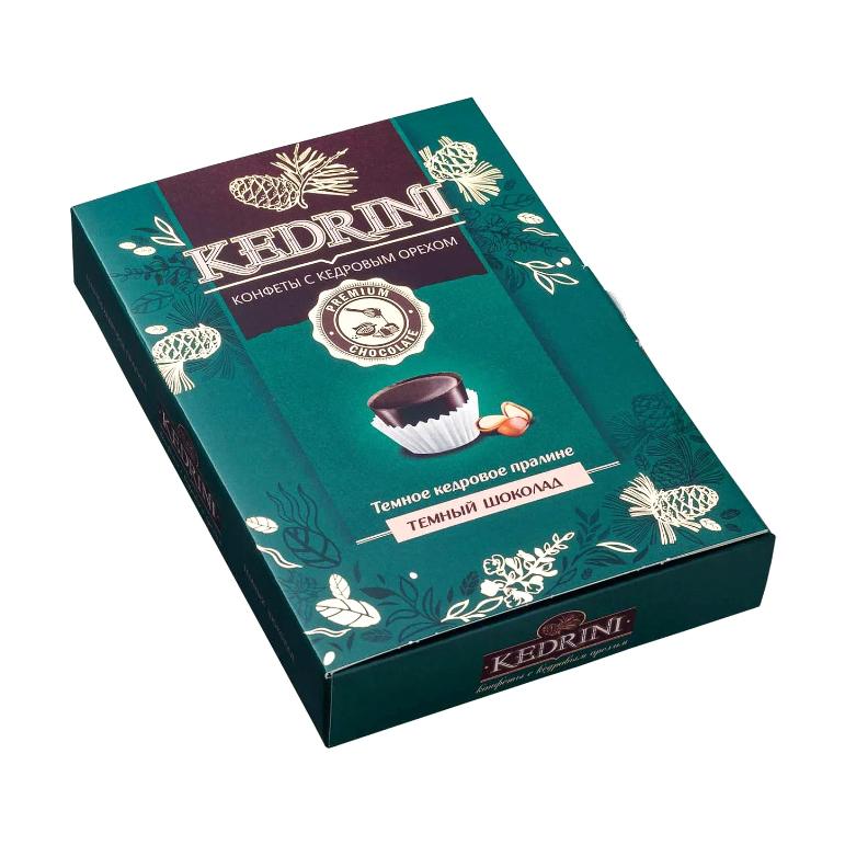 Конфеты Kedrini Кедровое пралине в темном шоколаде 80 г