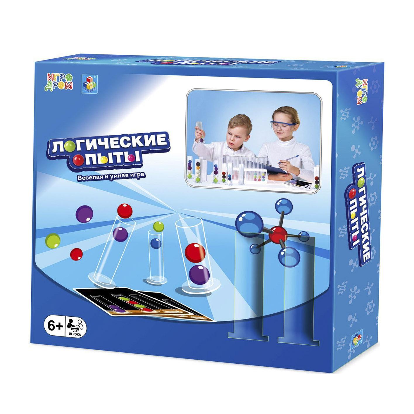 Фото - Настольная игра 1Toy Игродром. Логические опыты настольная игра 1 toy игродром логические опыты