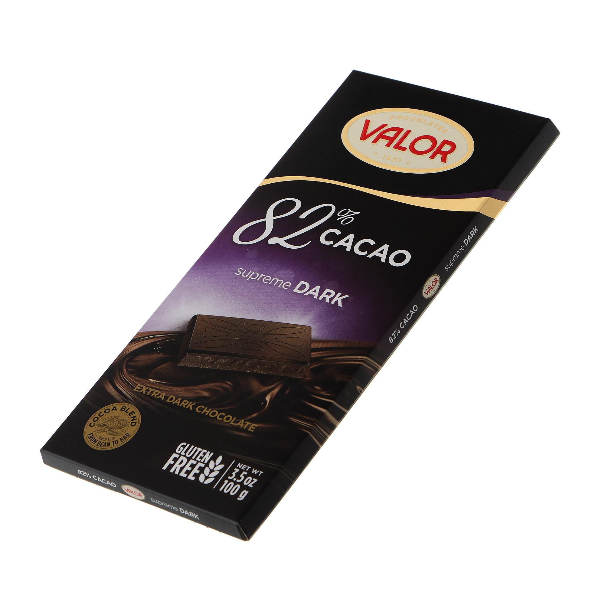 Шоколад темный Valor 82% 100 г недорого