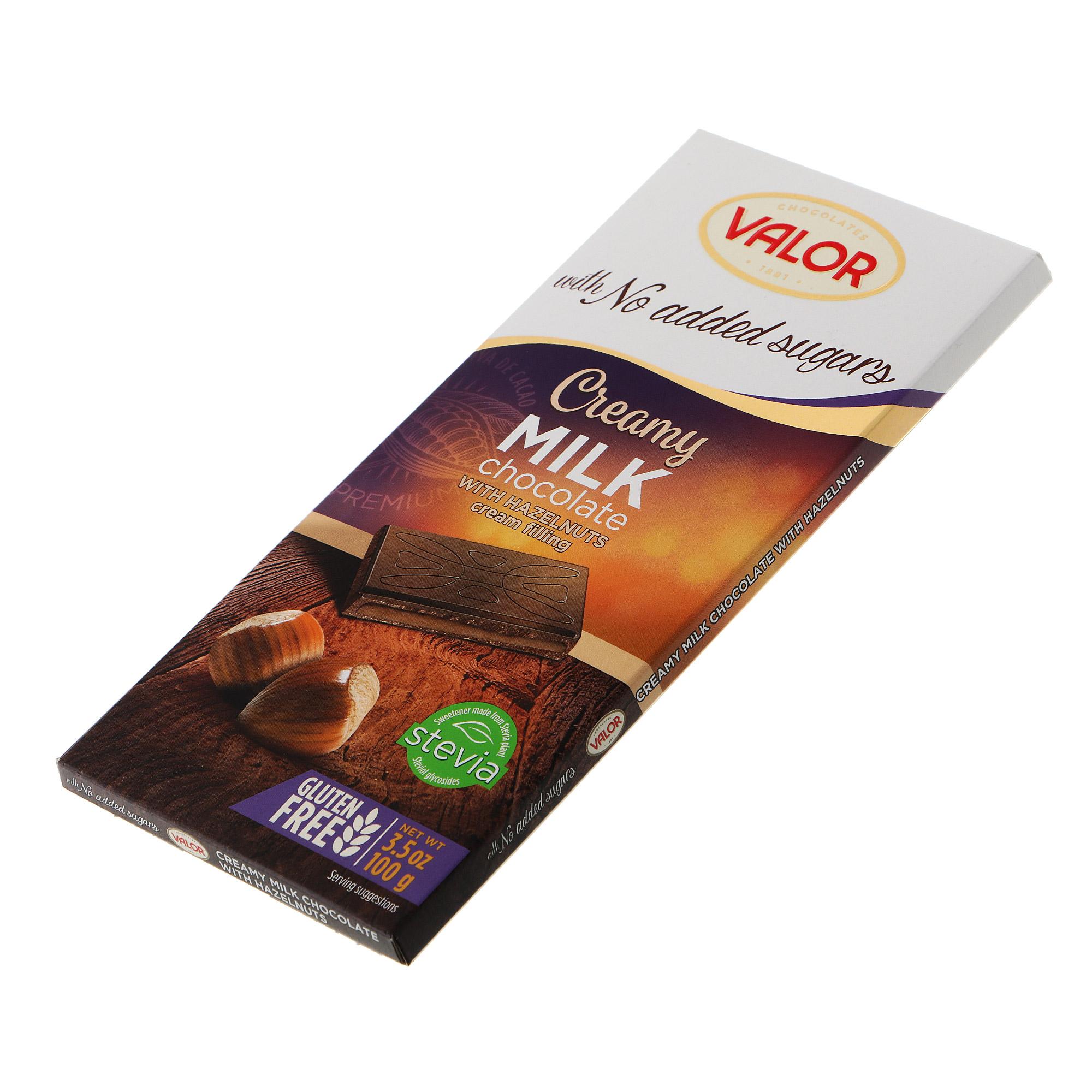 Шоколад темный Valor с ореховым кремом 70% 100 г