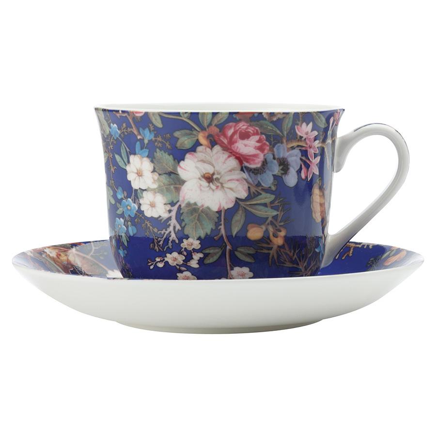 Фото - Чайная пара Maxwell&Williams Цветочная муза 480 мл пара чайная priority дыхание прованса вишня 480 мл